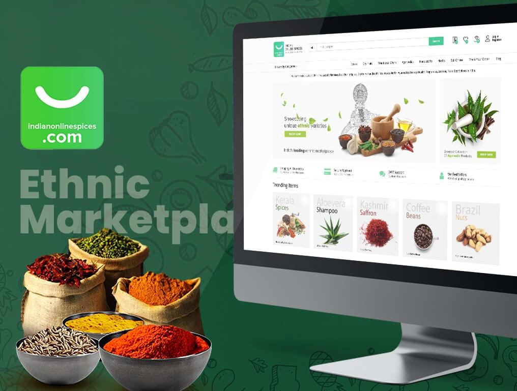 Indian Online Spices - Ecommerce Website, Digital Marketing