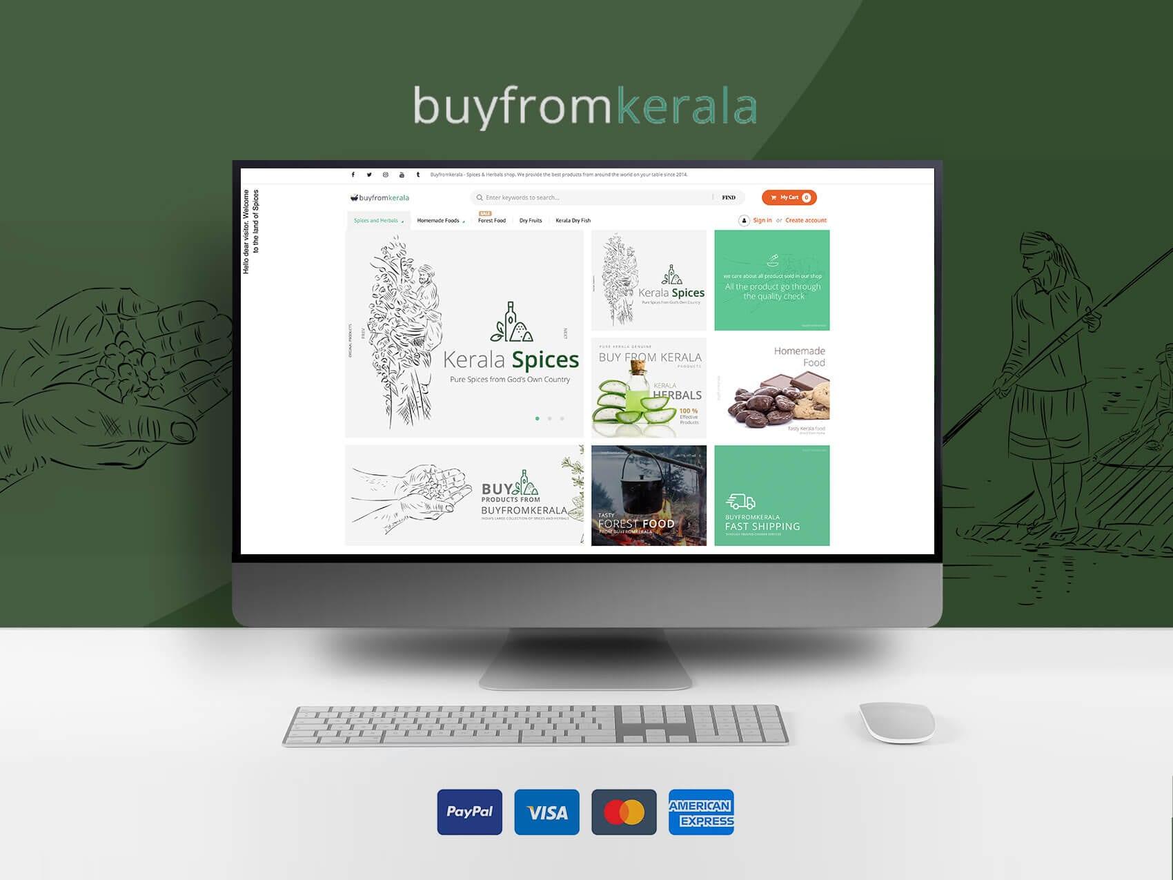 Buy From Kerala - Ecommerce Development , Digital Marketing