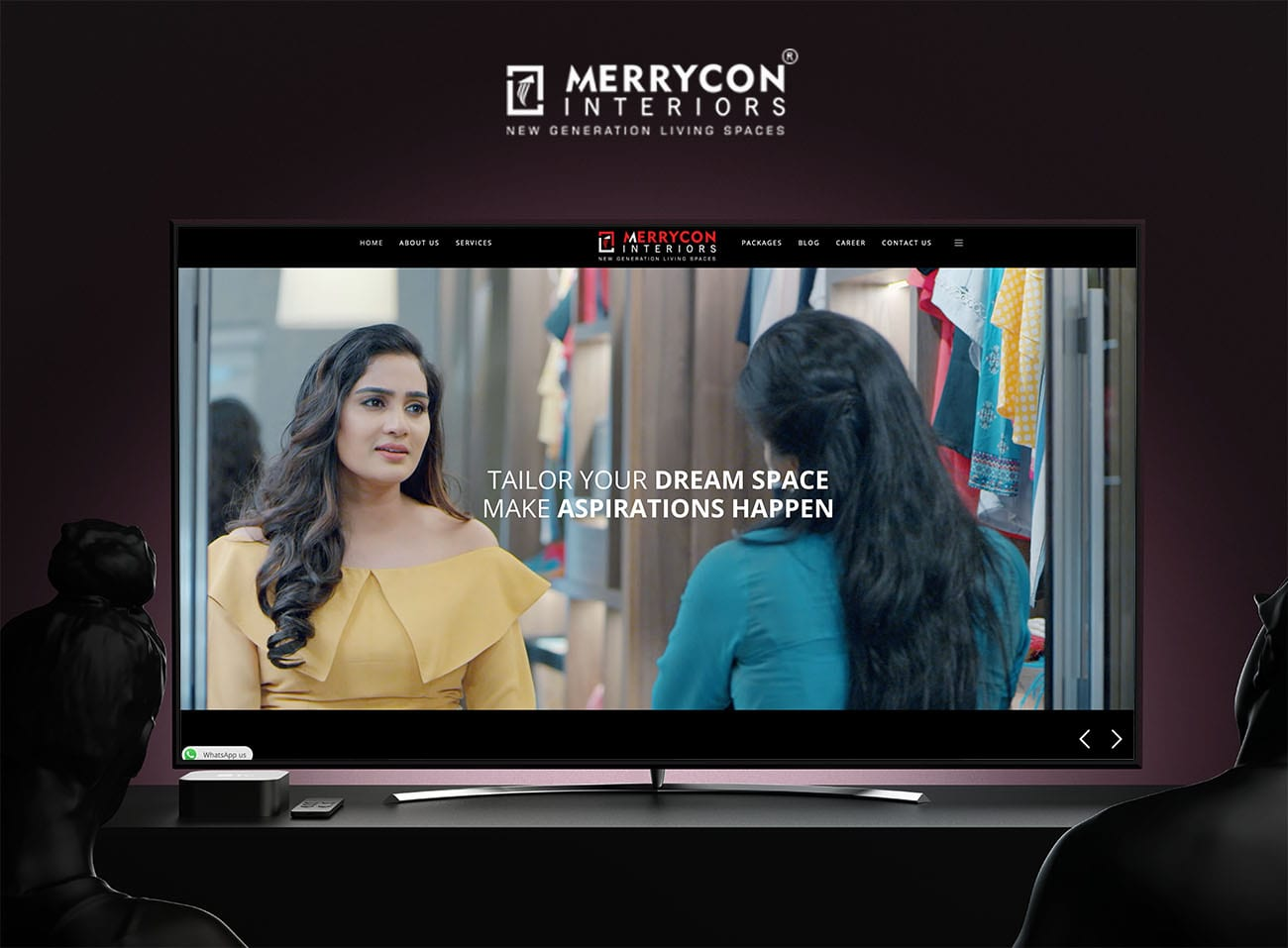 Merrycon Interiors Designing Company. Web Developed and Digital Marketed by The Inventiv Hub