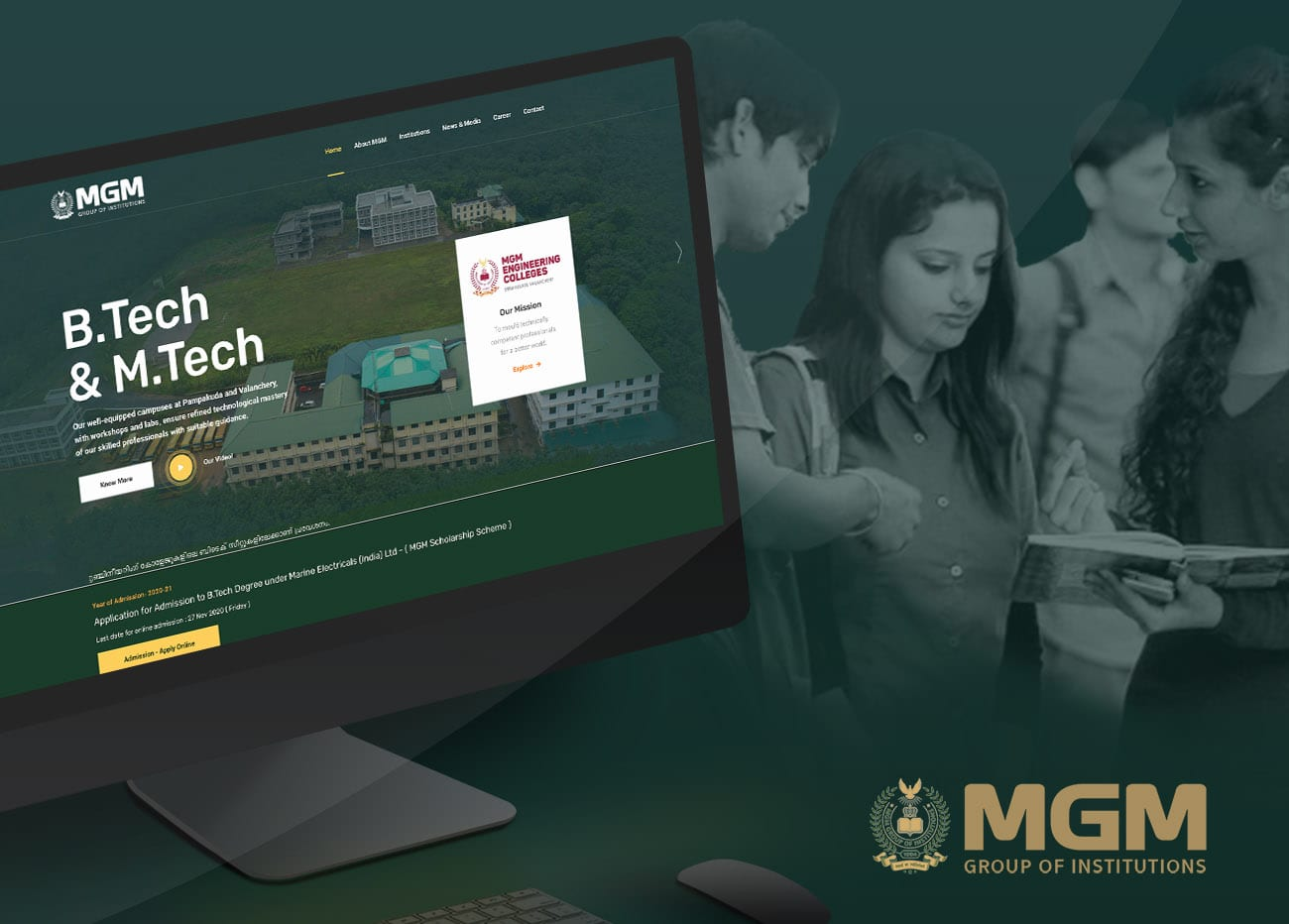 Website Development and Digital Marketing of MGM Group of Institutions
