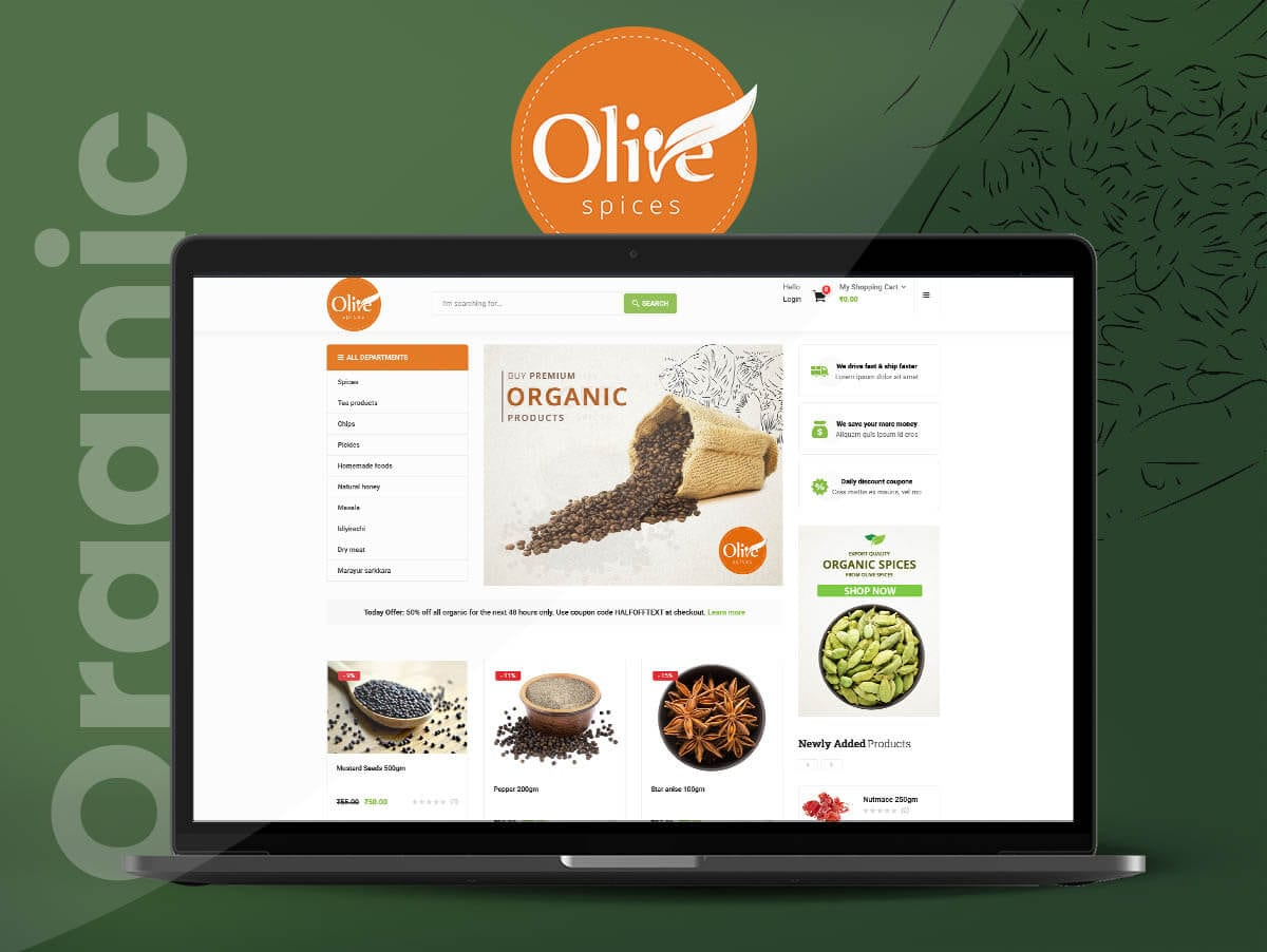 Ecommerce Development of Olive Spices